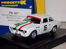ALFA ROMEO GIULIA GTA #16 IGNAZIO GIUNTI MUGELLO 1966 PROGETTO PK 067 1/43