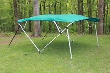 NEW VORTEX SQUARE TUBE FRAME 4 BOW PONTOON/DECK BOAT BIMINI TOP 8' TEAL 97-103""