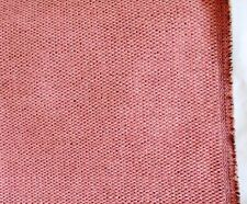 Vintage Duralee- Peach/ Coral Pindot Chenille Fabric Sample- Upholstery/ Crafts