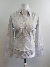 Brooke Taverner Wardrobe Perano Blouse - Grey & White Stripe Size 14 Box6206 G