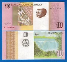 Angola P-New 10 Kwanzas Year 2017 Waterfalls Uncirculated Banknote