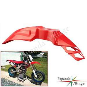 Motorcycle Front Fender Dirtbike Mudguards For Honda XR 250 R XR 400 R XL125 Red