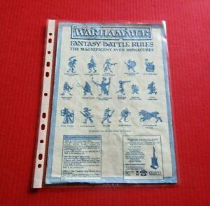 Warhammer Fantasy battle The Magnificent Sven Citadel Miniatures Advert Order