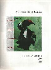 SADE The Sweetest Taboo UK magazine ADVERT / Poster 11x8 inches