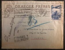 1937 Paris France Commercial Cover draeger brothers