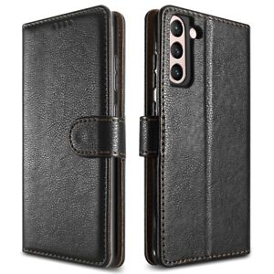 Samsung Galaxy S21, Plus & Ultra Leather Wallet Case with Stand
