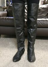 Black Over the Knee Boots with Wedge Heel Size 11
