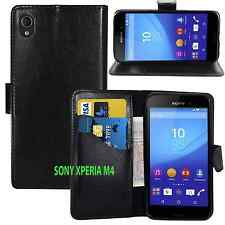 BLACK WALLET CARD SLOT stand GEL CASE FOR SONY PHONE UK seller free dispatch