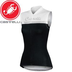 Castelli Promessa Sleeveless Women's Cycling Jersey - Black/White