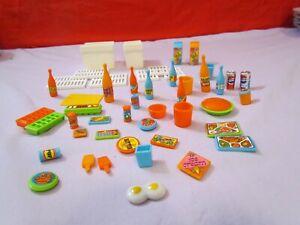 Vintage Barbie Dream House 1978 Refrigerator Accessories 50 Pieces Great