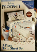 Disney Frozen 2 - 3 Piece Twin MICROFIBER Sheet Set NEW OLAF'S ADVENTURE