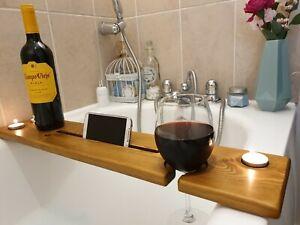 Wooden Bath Board Bath Caddy Shelf Board Tablet/Phone,Wine Glass/Can/Cup Holders