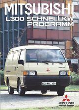 Truck Brochure - Mitsubishi - L300 series - GERMAN prospekt c1987 (T2258)