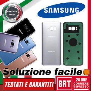 SCOCCA POSTERIORE ORIGINALE per SAMSUNG GALAXY S8 SM-G950F G950 BACK COVER VETRO