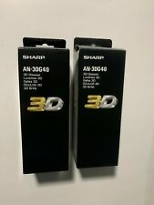 2 X NEW pairs -Sharp 3D Bluetooth Glasses Active Shutter AN-3DG40 - For Aquos TV