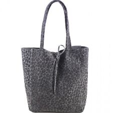 42e10017665d Real Soft ITALIAN LEATHER Hobo Toto Shopper Slouch Handbag LEOPARD Animal  Design