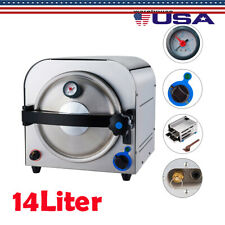 14l Steam Sterilizer Medical Autoclave Sterilization Dental Lab Equipment 110v