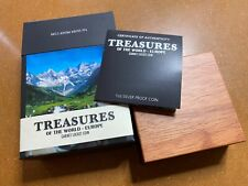 More details for 2013 perth mint 1oz silver proof coin treasures of the world - europe (garnet)