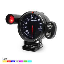 3.5'' 80mm Car Tachometer RPM Gauge Meter  7 Color LED 0-11000RPM w/ Shift Light