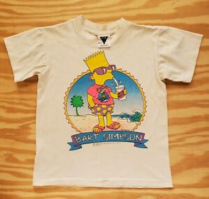 Vintage Bart Simpson T Shirt Skate Surf Rat Fink Youth Size 12/14 Single Stitch