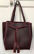 Celine Cabas Phantom Tassel Tie Bag Smooth Dark Burgundy Calfskin New With Tags