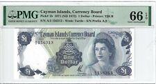 P-1b 1972 1 Dollar, Cayman Islands, Currency Board, PMG 66EPQ GEM +
