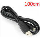 50/80/100cm USB 2.0 A Male to Mini 5 Pin B Data Charging Cable Cord Adapter NEW