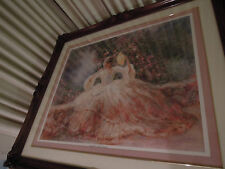 Floral / Victorian Art Painting / Print R. Tolan 42 by 36 inches Ships From USA
