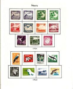 NAURU(11-39) 1954-63-66 SG48-79 X 3 FULL PICTORIAL SETS 9>8>14 VERY FINE MM / MH
