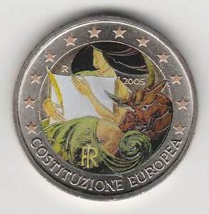 --- 2005 - 2 EURO C0ULEUR --- ITALIE / COSTITUZIONE EUROPEA