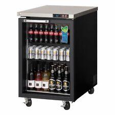 "Everest Ebb23G 23"" One Section Back Bar Cooler with Glass Door, 8.0 cu. ft."