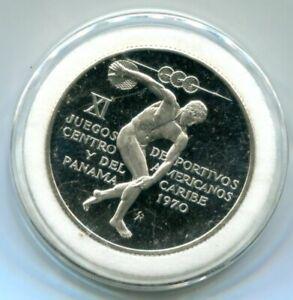 1970 Panama 5 Balboas Silver Proof .9250 Sterling Edition Commemorative Coin