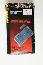 Vivanco Accu Discharger CAD 480 4,8 Volt Panasonic 6V Sony Akku Entladegerät