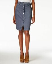NEW(M071) Buffalo David Bitton Button-Front Railroad Stripe Skirt Sz 29 $89