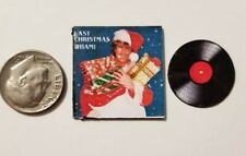 "Dollhouse Miniature Record Album 1"" 1/12 scale Barbie George Michael Christmas"