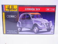 461m Maquette Monté Heller 80175 Citroën 2cv grise Plastique 1 43