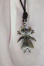 Markenlose Modeschmuck-Halsketten & -Anhänger aus Leder für Damen
