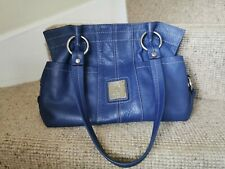 Tignanello Blue leather Handbag VGC