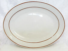 "Bristile / Wembley ware - Platter (11 3/8"")  vgc, 2 brown lines pattern 3 avail."
