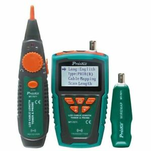 Pro'sKit MT-7071 Cable Length Measurement Network Toner & Probe Kit With LCD