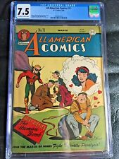 ALL AMERICAN COMICS #71 CGC VF- 7.5; OW-W; Paul Reinman cvr/art! rare!