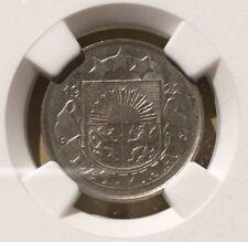 Latvia 1922 20 Santimu NGC AU 58