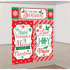 Merry Christmas Festive Party Classic Scene Setter Wall Decorating Kit