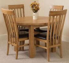 Oval Table & Chair Sets with Extending and 5 Pieces