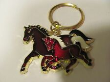 Stained Glass Style, Horse and colt, Key Chain
