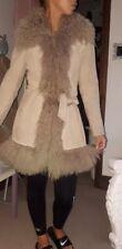 miss selfridge m real mongolian fur coat real suede
