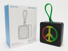 Irie Peace Symbol SPK750 Waterboy Waterproof Bluetooth Mini Water Speaker 3x3