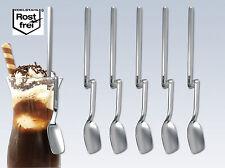 6 Gourmetlöffel Longdrinklöffel Eislöffel Joghurtlöffel mit Knick, Edelstahl CHG