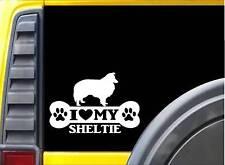 Sheltie Bone Sticker L074 8 inch Shetland sheepdog decal