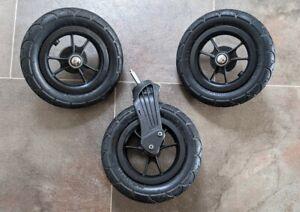 Full Set Wheels Baby Jogger City Mini GT. Front, Back/ Rear Single & Double